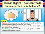 Human rights in conflict and in balance - Edexcel Citizenship