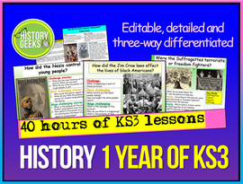 1 Year of KS3 History