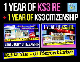 2 Years of KS3 Citizenship + RE