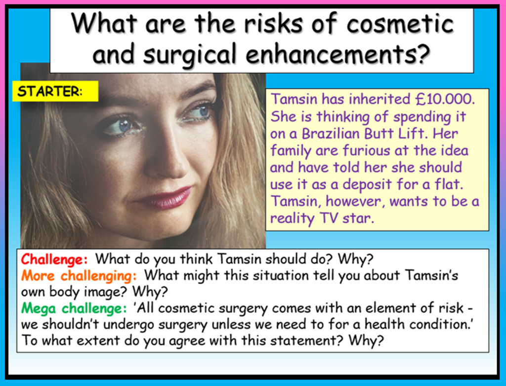 Cosmetic Surgery Risks Lesson