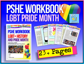 LGBT+ Pride Home Learning / PSHE Workbook