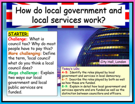 Local Councils, Public Services + Council Officers Edexcel Citizenship GCSE