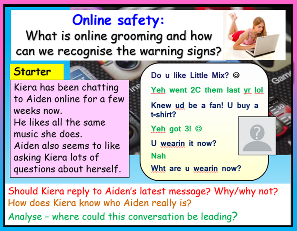 Online Grooming + Predators - Internet Safety