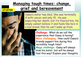 Bereavement + Grief PSHE Lesson