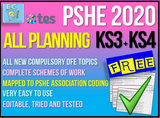 PSHE Planning for KS3 and KS4