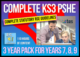 3 Year Pack - Complete Secondary PSHE and RSE KS3
