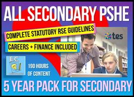 5 Year Pack - Complete Secondary PSHE and RSE KS3 & KS4 - EC Publishing