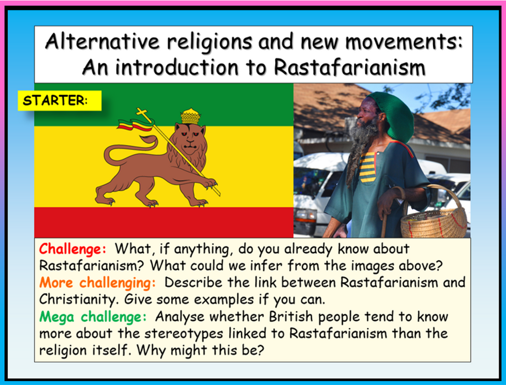 Alternative Religions RE - Rastafarianism