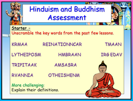 Hinduism and Buddhism Assessment