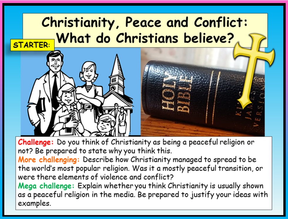 Christianity, Peace and Conflict