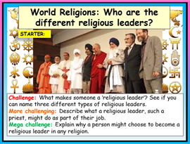 World Religions - Religious Leaders Lesson