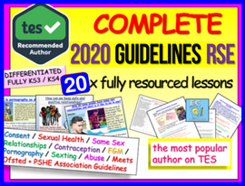 Relationships and Sex Education KS3 / KS4 PSHE 2020