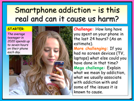 Smartphone Addiction PSHE