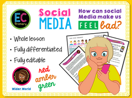 Primary PSHE - Social Media Anxiety