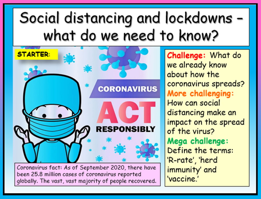 Lockdown and Social Distancing - Covid 19 Safety Lesson