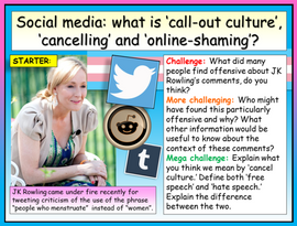 Social Media - Online Shaming and Cancel Culture