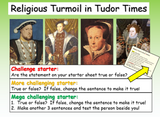 Religion and Conflict in Tudor Times