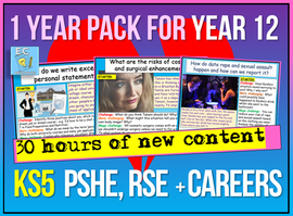 Sixth Form PSHE - KS5 Year 12 (1 Year's Worth)