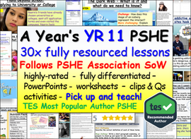Complete Year 11 PSHE and RSE