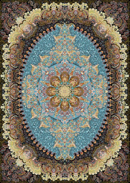 Mahoor Carpet - Tarane Blue