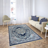 Bellahome Mashhad Collection Teppich 1445C Dunkelblau