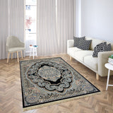 Bellahome Mashhad Collection Teppich 1445C Schwarz
