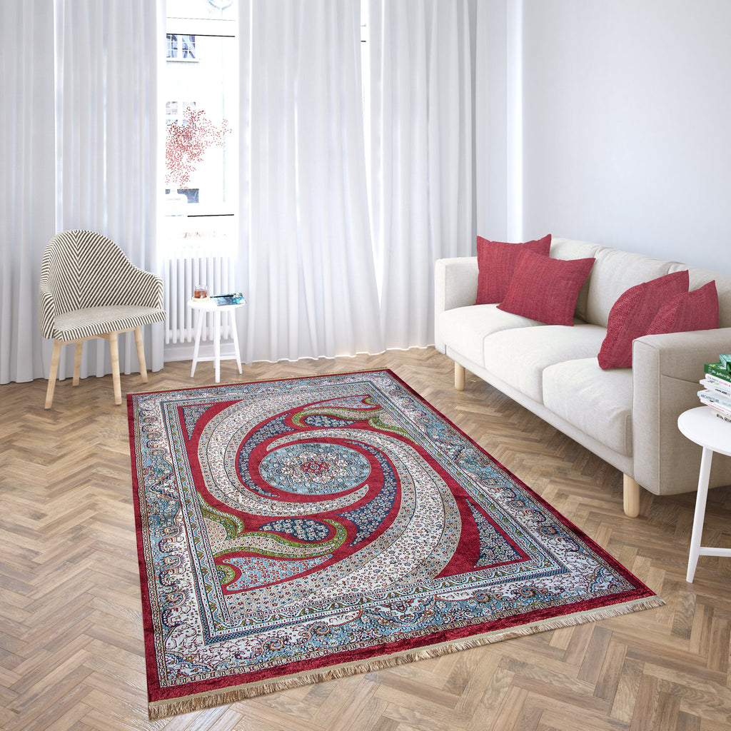 Harmonie Carpets-Harmonie Carpets-Harmonie Carpets Mashad Collection Teppich 1997A Weinrot-