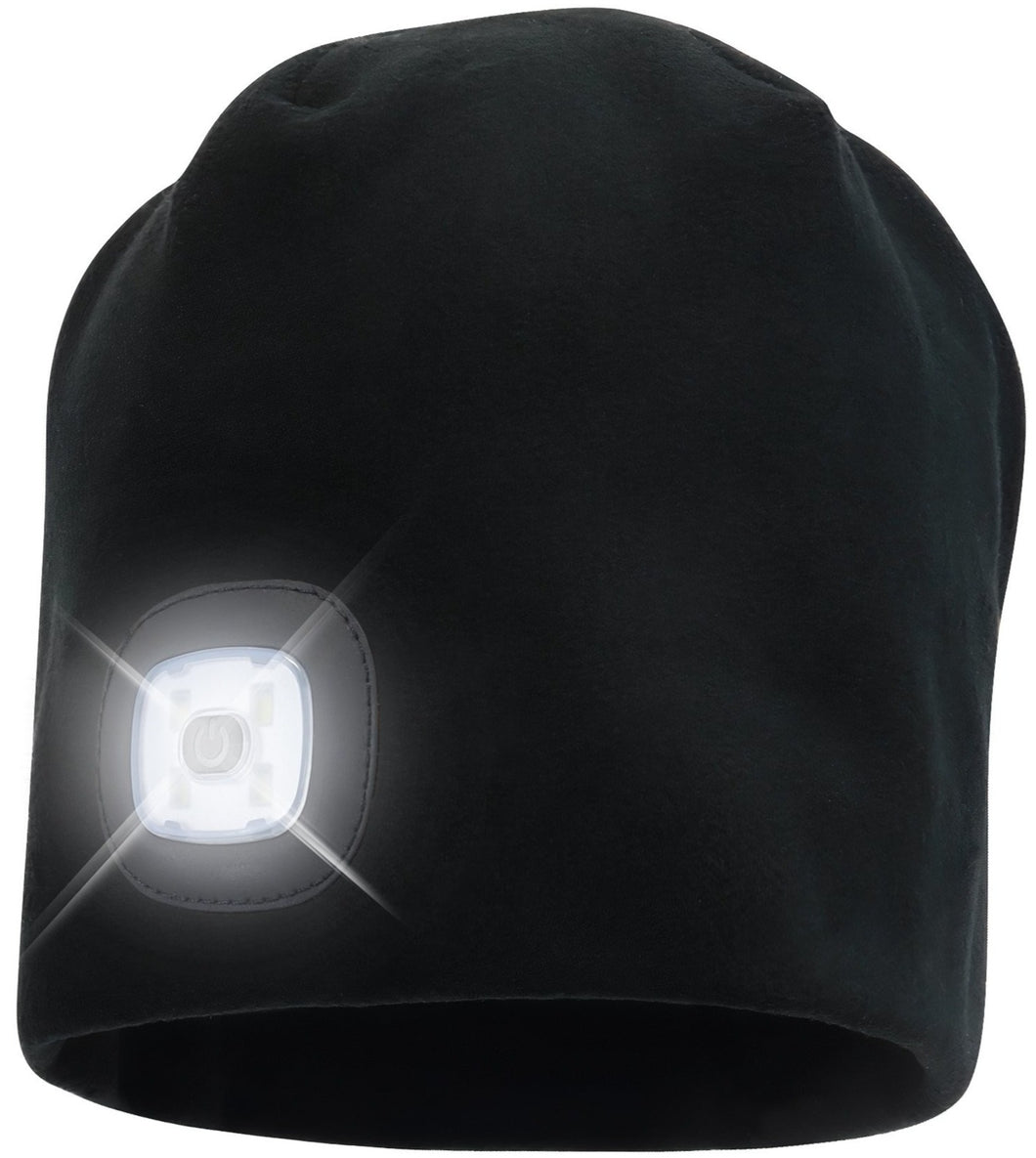 Headlightz® Beanie - Fleece - Black