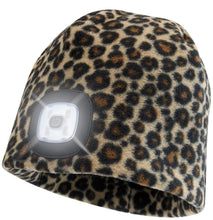 Load image into Gallery viewer, Headlightz® Beanie - Fleece - Leopard