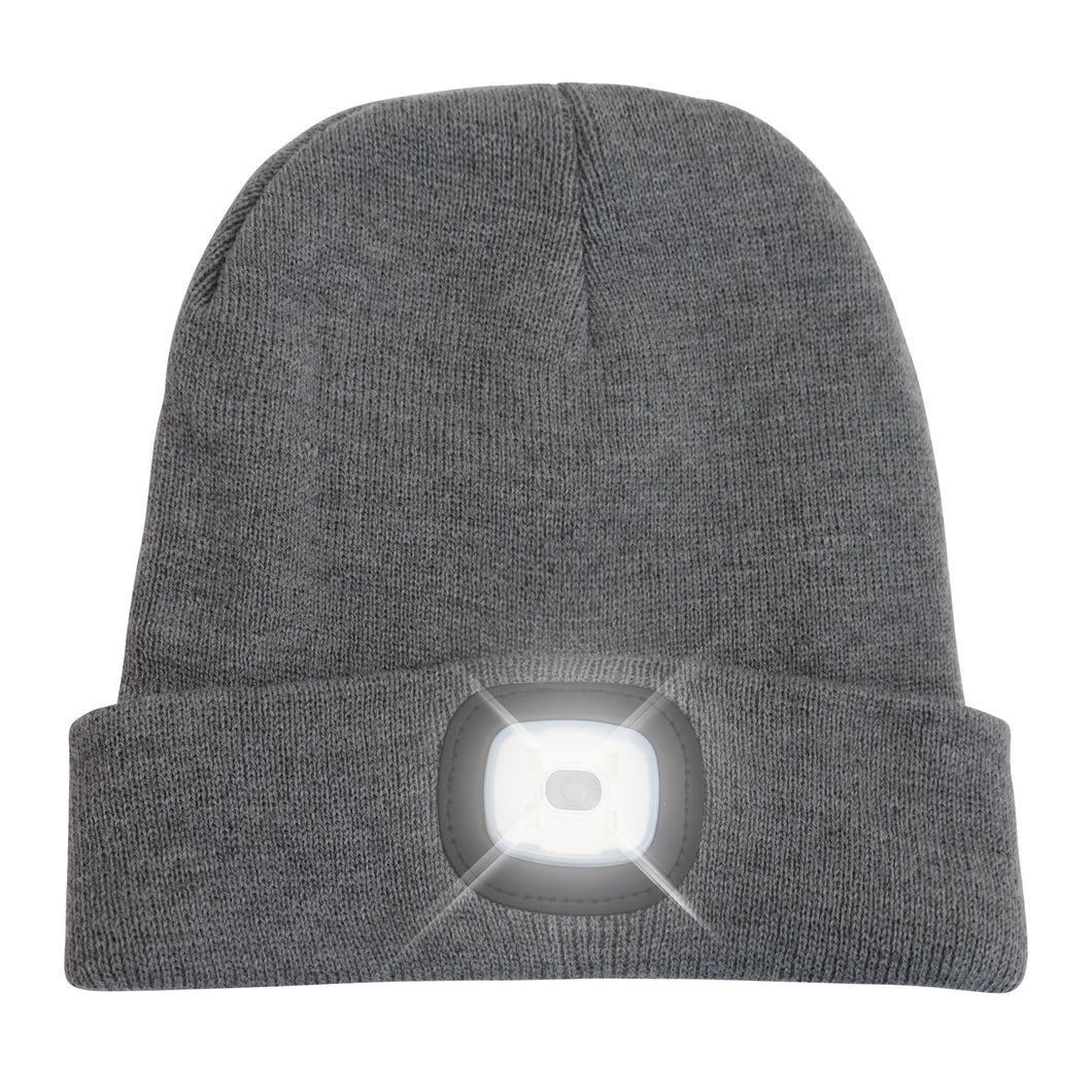 Headlightz® Beanie - Knit - Grey