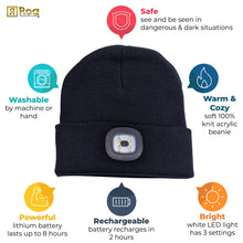Load image into Gallery viewer, Headlightz® Beanie - Knit - Black