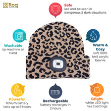 Load image into Gallery viewer, Headlightz® Beanie - Knit - Leopard