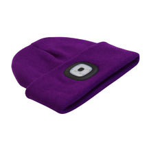 Load image into Gallery viewer, Headlightz® Beanie - Knit - Plum