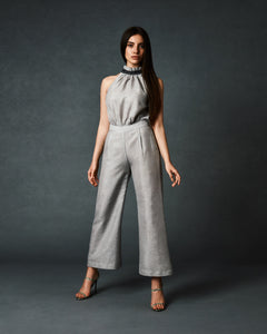 Wide Legs Halter Neck Jumpsuit