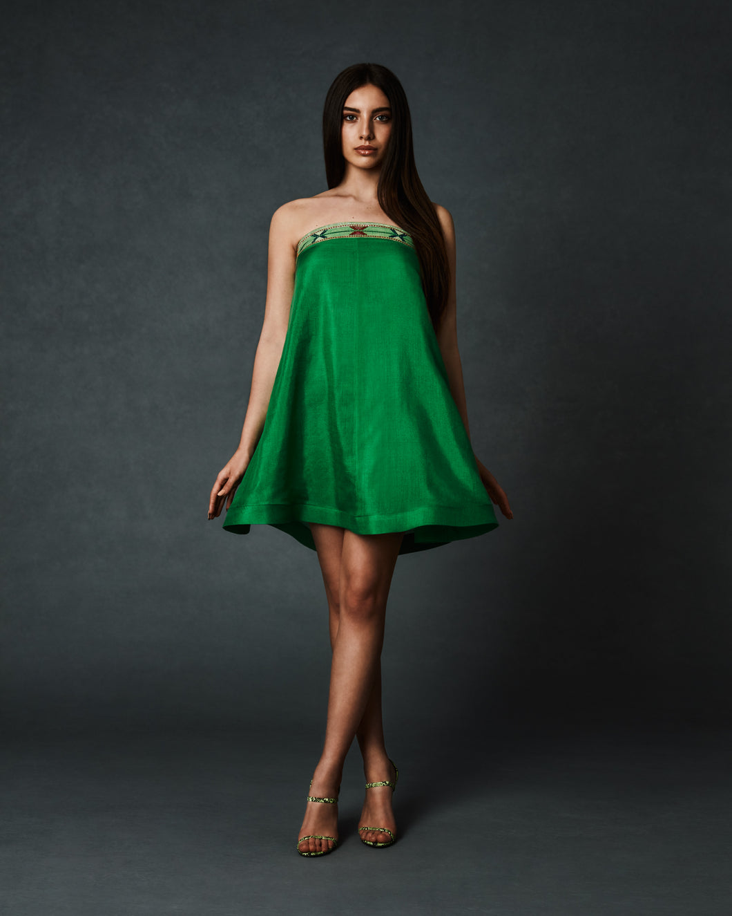 A-Line Strapless Dress