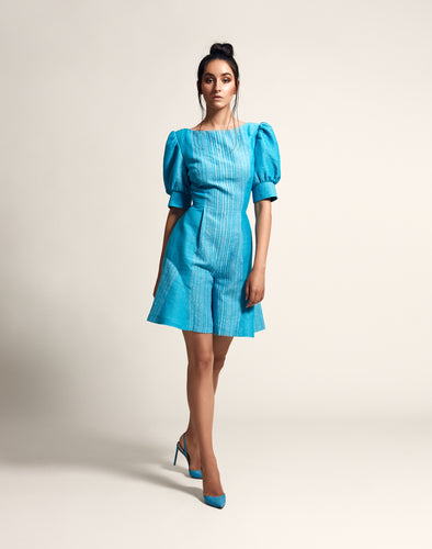 Swing playsuit with puff sleeves