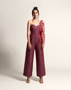 One shouldered jumpsuit