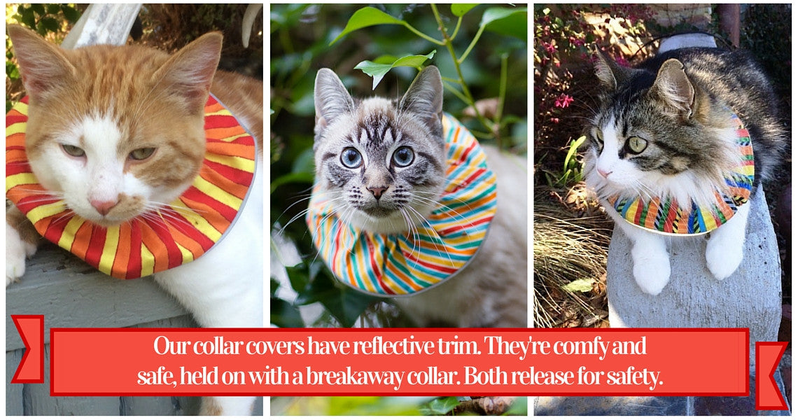 Copyright Birdsbesafe LLC; Features of Birdsbesafe cat collar covers