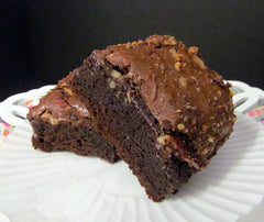 Dark Chocolate Brownie with Pecans