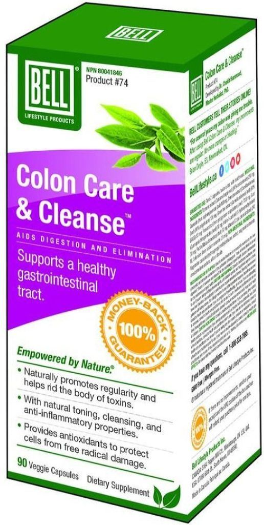 BELL Colon Care and Cleanse  (90 caps)