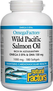 NATURAL FACTORS Wild Pacific Salmon Oil (1000 mg - 180 caps)