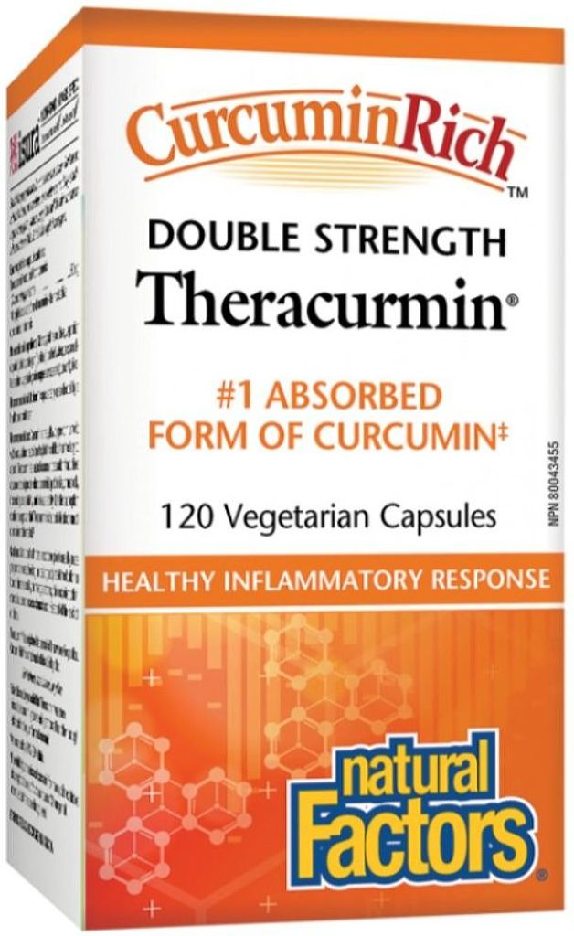 NATURAL FACTORS Theracurmin DBL Strength (60 mg - 120 Veg Caps)