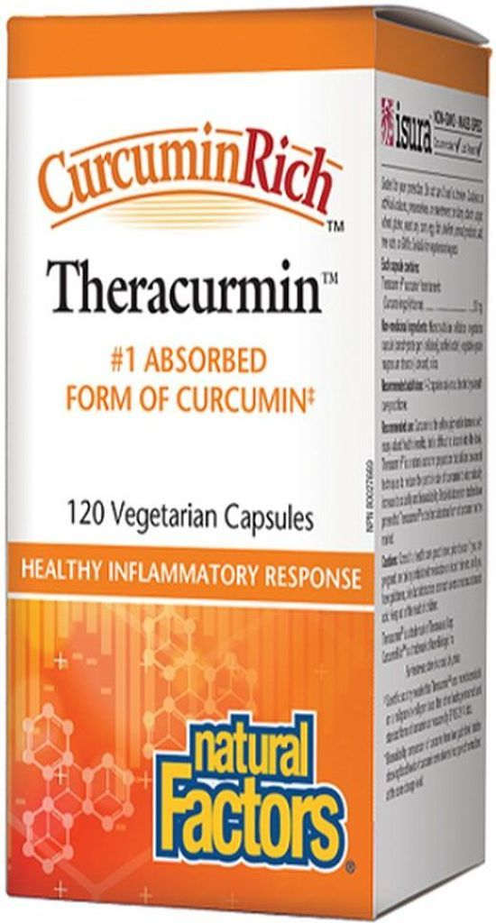 NATURAL FACTORS CurcuminRich Theracurmin ( 30 mg - 120 Veg Caps )