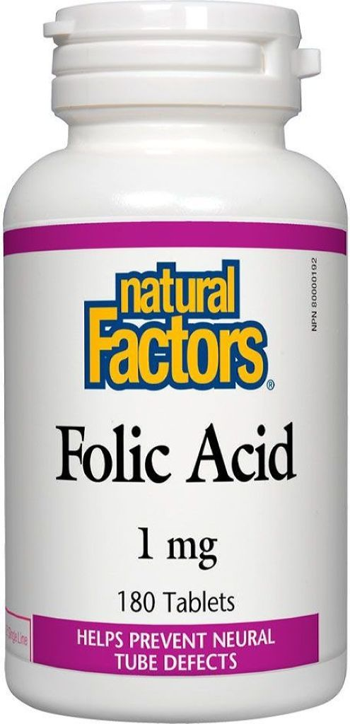 NATURAL FACTORS Folic Acid (1mg - 180 caps)