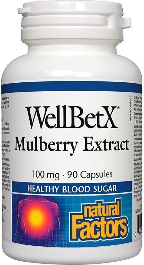 NATURAL FACTORS WellBetX Mulberry Extract ( 100 mg - 90 Caps)