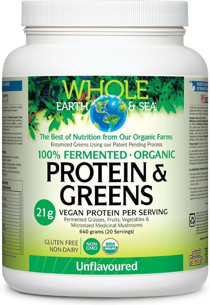 WHOLE EARTH AND SEA Organic Protein & Greens (Unflavoured - 640 gr)