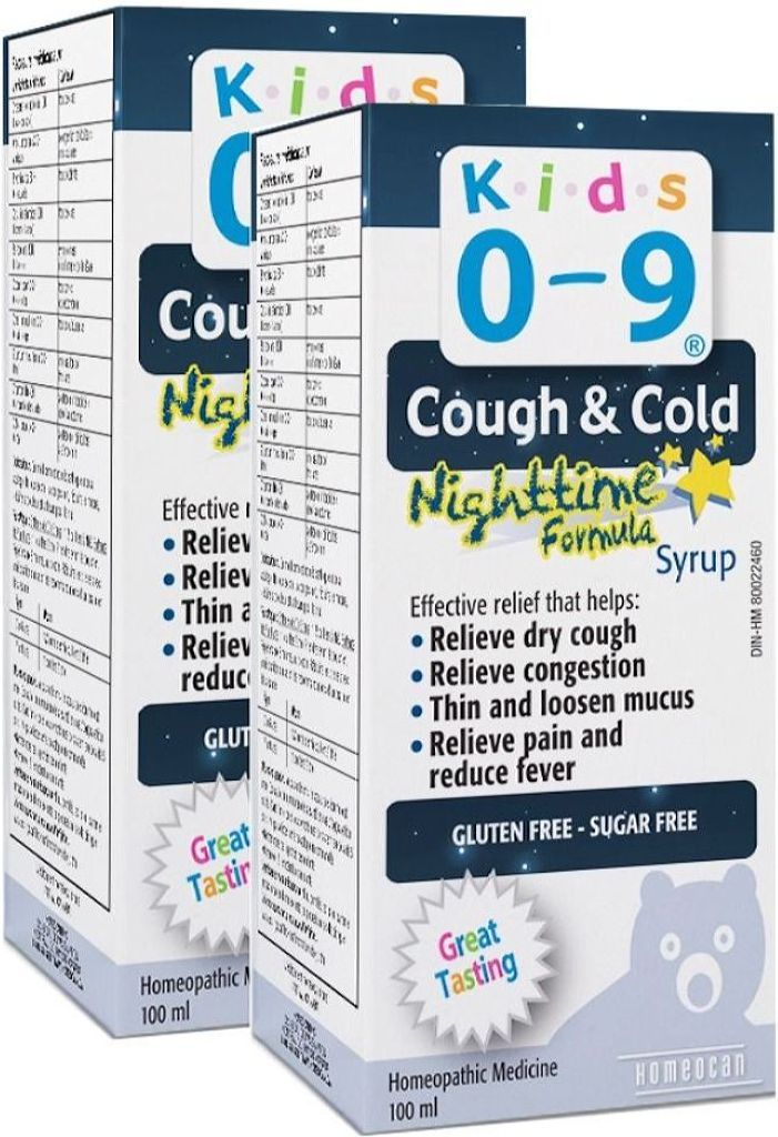 HOMEOCAN Kids 0-9 Cough / Cold Nighttime (100 ml) 2-Pack
