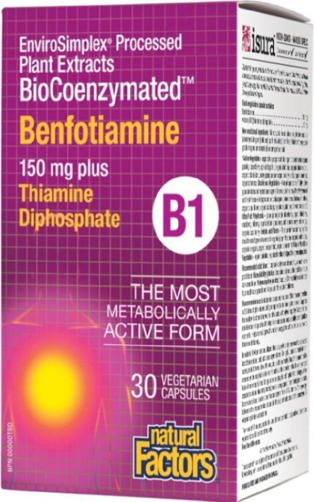 NATURAL FACTORS BioCoenzymated Benfotiamine B1 (30 veg caps)