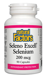 NATURAL FACTORS Seleno Excell Selenium ( 200 mcg - 90 caps)