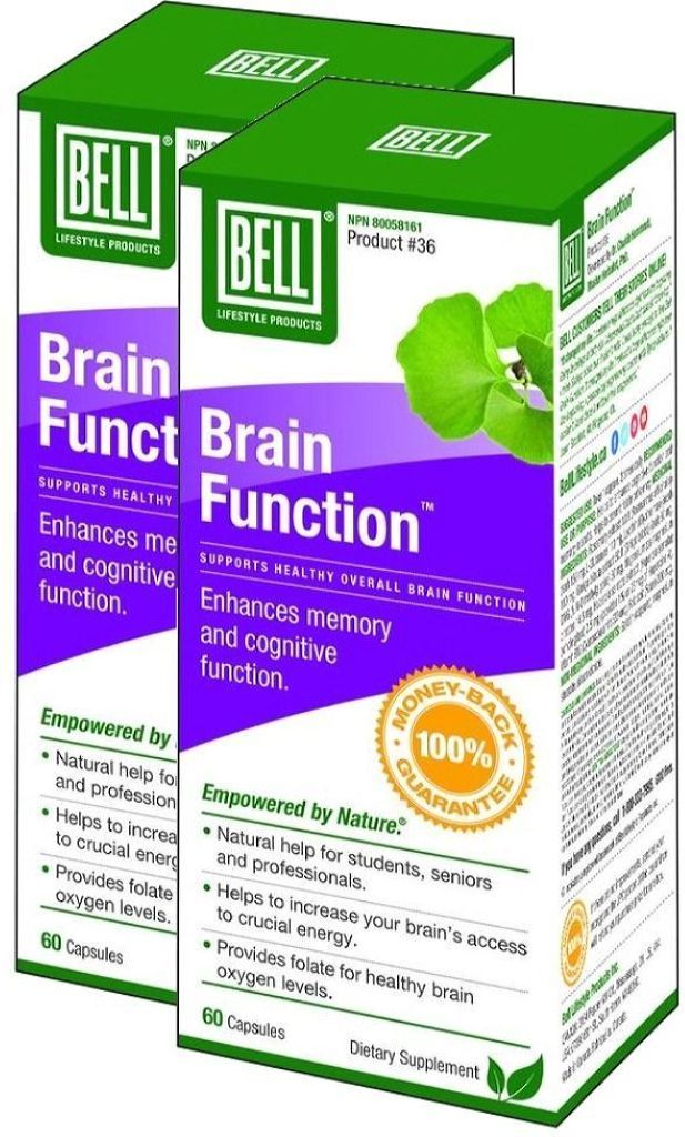 BELL Brain Function  (60 Caps) 2-Pack